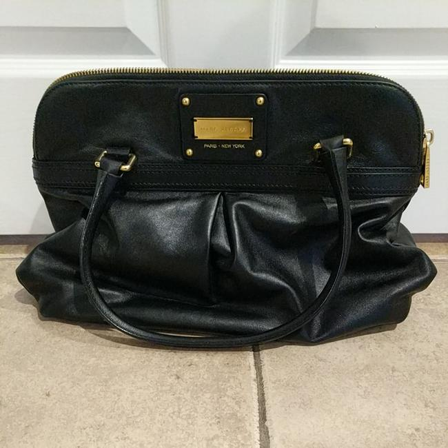 Item - Office Bag. Black with Gold Hardware. Leather Tote