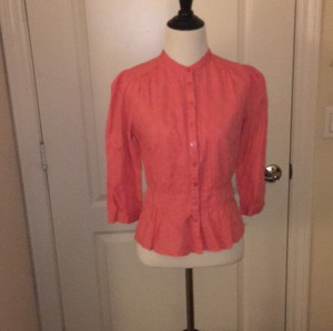 French Connection Button Down Shirt peach