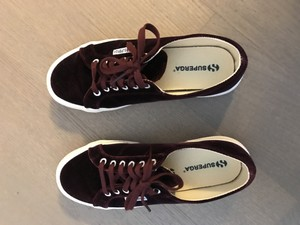 Superga Velvet burgundy velvet Athletic