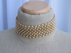 Napier Vintage Gold and Pearl Costume Choker