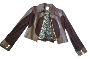 Dolce&Gabbana Dolce & Gabbana Motorcycle Brown Leather Rare Suede Motorcycle Jacket