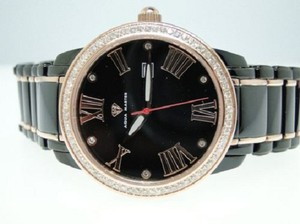 Other Mens Black/Rose Aqua Master Diamond Watch 76 Diamonds