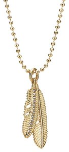 Coach F90447 Pave Multi Feather Necklace in Gold