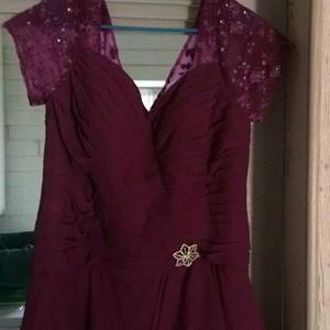 Maroon Or Wine Mother Of The Bride Dress Dress