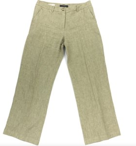 Max Mara Wide Leg Pants Brown Linen
