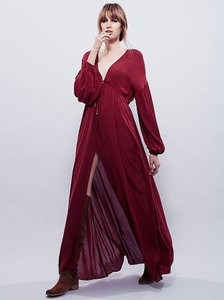 Burgandy Maxi Dress by Free People