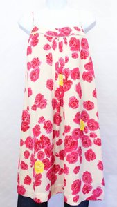 Anthropologie short dress White & Pink Silk Mini on Tradesy