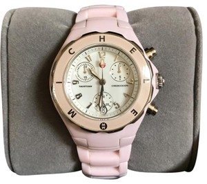 Michele Michele Rare Pink Tahitian Ceramic Chronograph Watch