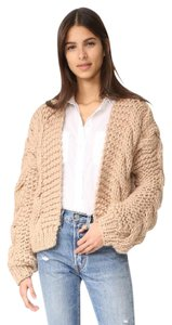 I Love Mr Mittens Bomber Cardigan Wool Chunky Knit Sweater