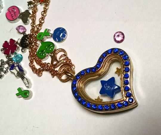 Other Floating Locket Charm Necklace + 8 Charms J735