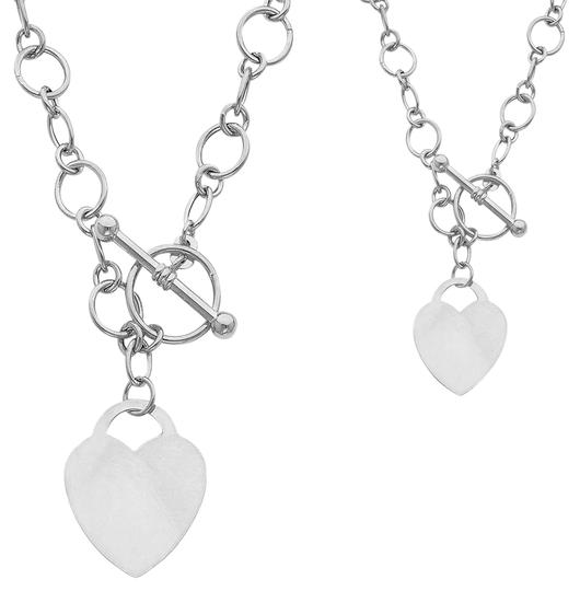 Preload https://img-static.tradesy.com/item/20991611/white-gold-14k-hollow-links-with-heart-18-necklace-0-1-540-540.jpg