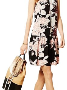 Anthropologie short dress black pink on Tradesy