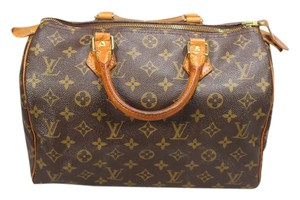 Louis Vuitton 35 40 25 Damier Azur Tote in Brown Monogram