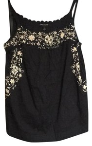 Lucky Brand Top black with cream