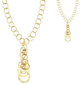 Top Gold & Diamond Jewelry 14K Yellow Gold Airy Fashion Links Necklace - 18