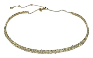 Alexis Bittar ALEXIS BITTAR Crystal Encrusted Spike Accented Choker Necklace Gold