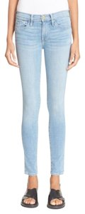 Frame Denim Skinny Light Wash Frame Solid Skinny Jeans-Light Wash