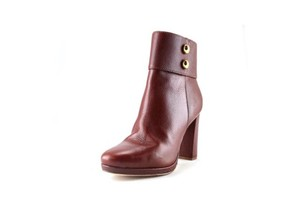 Kate Spade Calf Leather Gold High Heel Luggage Boots