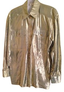 Escada Top greenish gold metallic