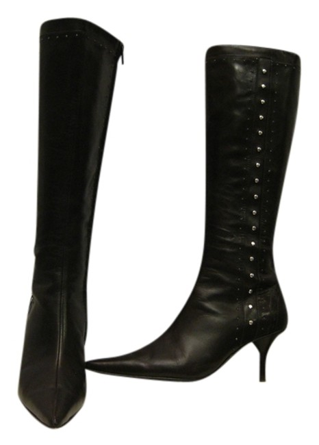 Item - Brown W Knee High Leather Grommets Detailing Boots/Booties Size US 6.5 Regular (M, B)