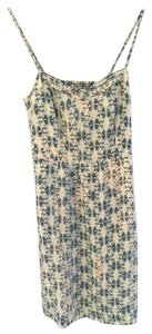 Moulinette Soeurs short dress Cream with blue designs on Tradesy