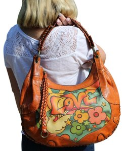 Isabella Fiore Designer Love Hand Painted Hobo Bag