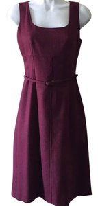 Ann Taylor Tweed Wool With Belt Belted Dress