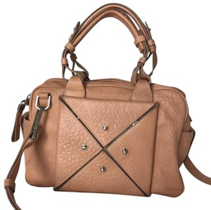 Allibelle Leather Satchel in Nude
