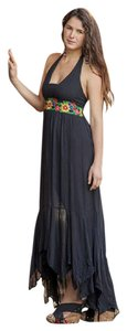Black Maxi Dress by Other Hippie Boho The Treasured Hippie Handmade Maxi
