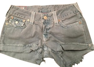 True Religion Cut Off Shorts Teal/Blue