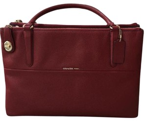 Coach Borough Bag (Medium) Satchel in red
