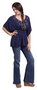 Other Hippie Boho The Treasured Hippie Handmade Unique Clothing Top Navy Blue