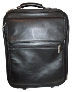 Wilsons Leather Leather Briefcase Rolling Travel black Travel Bag