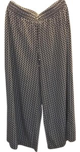 Ellen Tracy Wide Leg Pants black and white