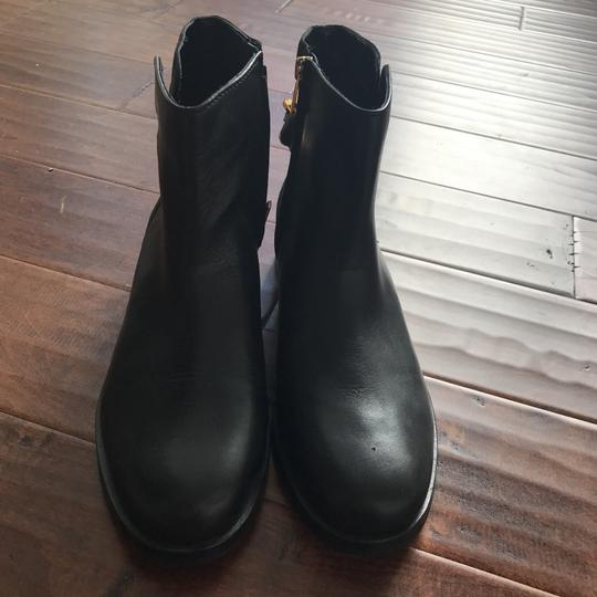 Sam Edelman black with gold Boots