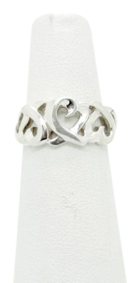 e8d3a6352 Tiffany & Co. Tiffany & Co. Paloma Picasso Loving Heart Band Ring in  Sterling ...
