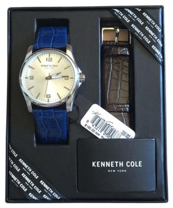 Kenneth Cole Mens Boxed Watch Changeable Straps Brand New