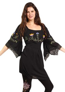 Other short dress Black Hippie Boho The Treasured Hippie Handmade Plus Size Clothing on Tradesy