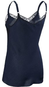 CAbi Lace Date Night Chic Comfortable Top Navy