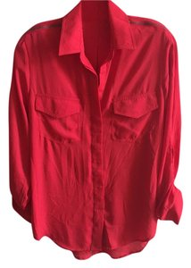 Sam Edelman Button Down Shirt red