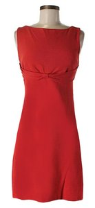 Diane von Furstenberg short dress Red Sleeveless Knot A-line Scoop Back on Tradesy