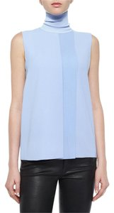Vince Classic Sleeveless Crepe Top Light Blue