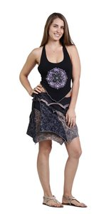 Other Hippie Boho The Treasured Hippie Handmade Wrap Skirt Black