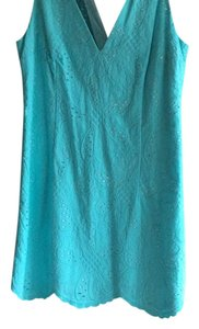 Lilly Pulitzer short dress Turquoise Blue on Tradesy