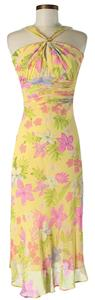 Maxi Dress by Diane von Furstenberg Silk Tropical Print Halter Floral