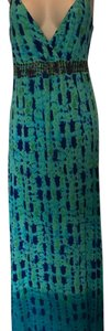 blue green Maxi Dress by INC International Concepts