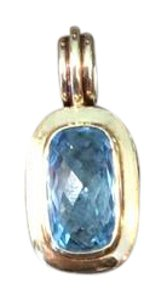 David Yurman David Yurman Blue topaz 18 carat and sterling silver enhancer