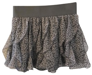 Guess Mini Skirt Gray with white design