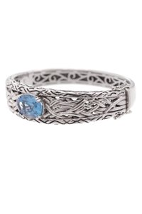 EFFY Effy Sterling Silver Blue Topaz Lagoon Bangle Bracelet