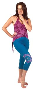 Other Hippie Boho The Treasured Hippie Handmade Floral Leggings! Teal Leggings